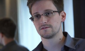 U.S. National Security Agency whistleblower Edward Snowden is seen in this still image taken from a video during an interview with the Guardian in his hotel room in Hong Kong